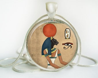 Egyptian Bastet Pendant (Antique.bronze./.Silver.tone)