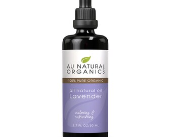 Pure Lavender Oil for use in Aromatherapy,  Natural Skincare, Natural Haircare 1.7oz (50ml)