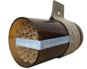 Mason Bees - Native Bee Nest - Urban Bee House - Bee Houses - Pollination - Solitary Bees - Christma - Bee Nest - Insect Nest Bee