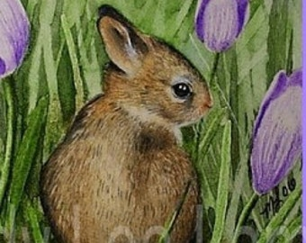 Easter Card from Original Bunny Art by Melody Lea Lamb