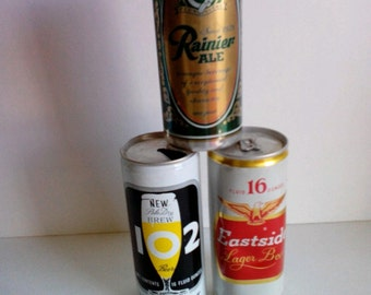 Trio Of Classic Beer Cans
