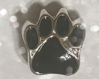 Paw Print Big Hole Bead Charm Spacer for Big Hole Jewelry