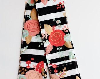 DSLR Camera Strap Cover- lens cap pocket and padding included- Rose