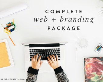 40% off Complete web and branding package with squarespace website