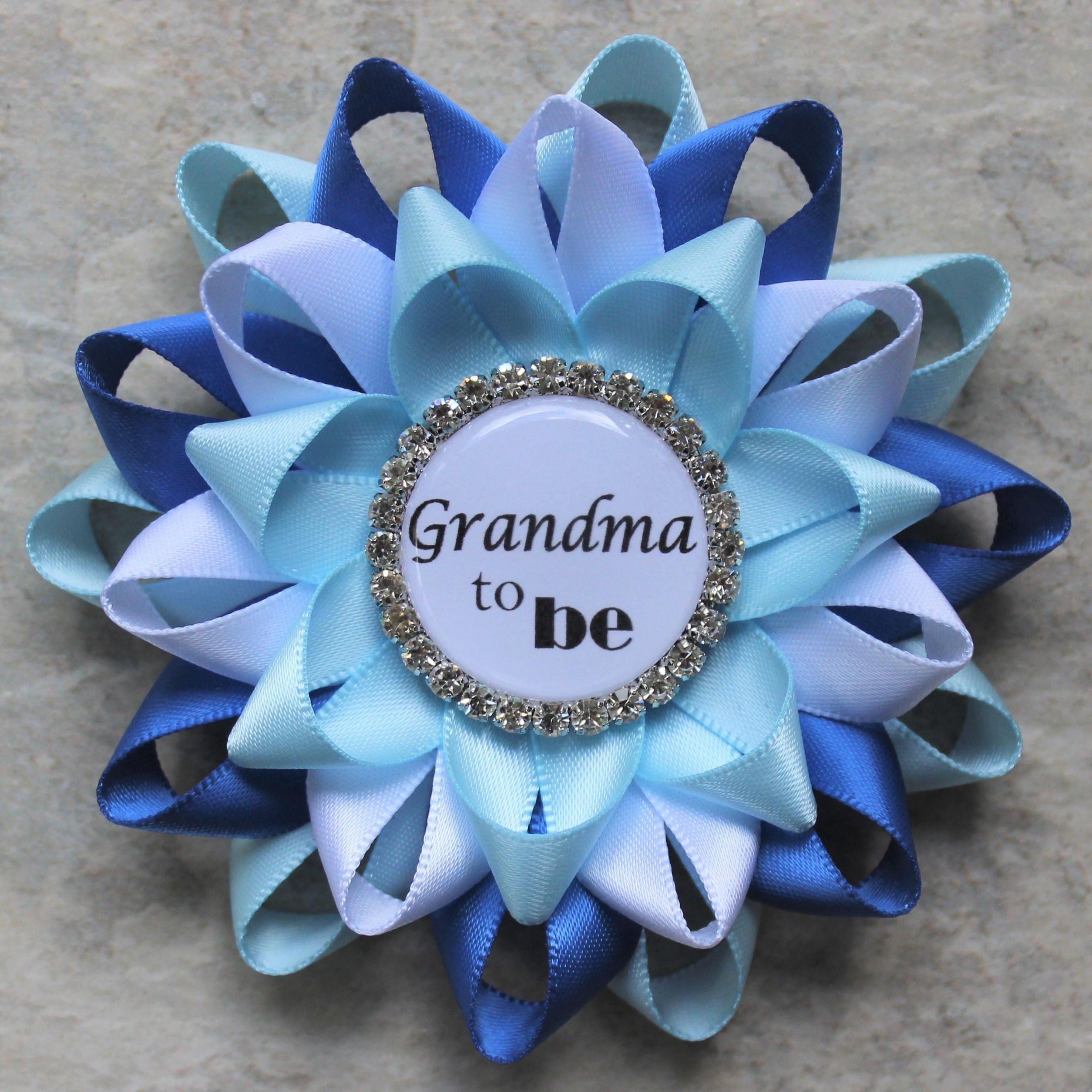New grandma gift new mommy gift personalized baby shower corsage new grandma gift new mommy gift personalized baby shower corsage pins baby boy shower decorations aunt to be nonna daddy mimi mom negle Image collections
