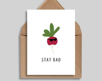 Stay Rad, Friendship Cards, Just Because, Greeting Cards