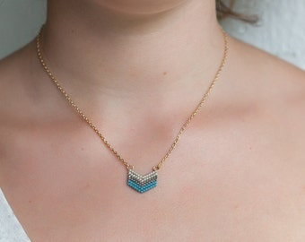 Chevron Necklace 16k Gold Fill