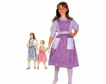 SALE 1980s Girls Jumper Back Button Blouse Simplicity 6303 Vintage Sewing Pattern Size 7 - 8 - 10 UNCUT