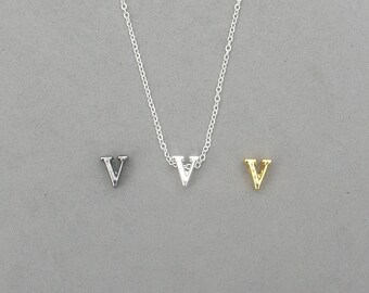 Initial v Necklaces 373