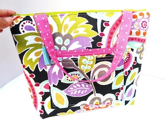 Lunch Bag Large / With Two Front Pocket / Lunch Bag Insulated / Tote For Women / Lunch Bag For Women /