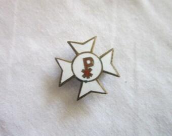 Antique White Enameled Military PX Pin WWI?