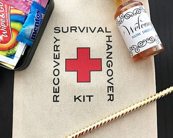 Hangover Kit, Survival Kit, Welcome Bags, Recovery Kit, First Aid, DIY, Bridal Shower Favor, Destination Wedding