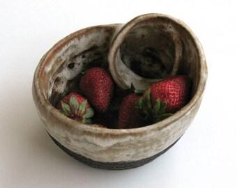 handmade ceramic bowl, contemporary ceramic, stoneware bowl, modern pottery, fine art ceramic, art gift, gift for her, gift for him