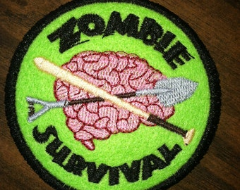 Embroidered Zombie Survival Patch