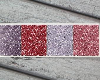 Purple & Pink Glitter Headers | Planner Stickers