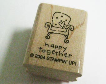 Happy Together Anniversary Invitation Quotation Papercraft Stampin Up Rubber Stamp Wood Mount Craft Card Making Stamping Supply Craft Stamp
