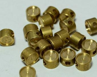 24 Pcs Raw Brass 5x3 mm Bracelet Findings, Blanks For Rhinestone
