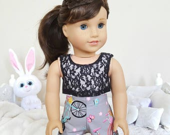 18 inch doll shorts and crop top
