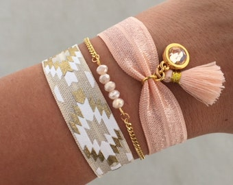 Ibiza bracelet set   free shipping   Aztec   summer   quote   tropical   gold   peach   white   mothers day