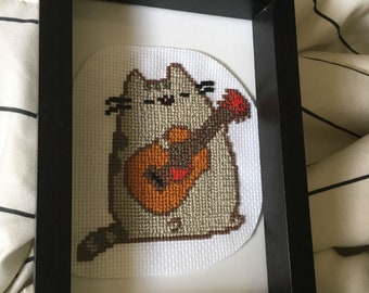 Guitar Pusheen Cross Stitch