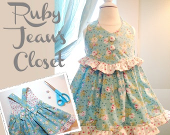 Pretty Pansy - Easter Dress Pattern PDF. Sewing Pattern for Girls.  Sizes 1 -10 included