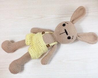 PATTERN : Bunny-Rabbit- Amigurumi bunny pattern - Crochet pattern-Knitted Stuffed animals- doll-toy-baby shower