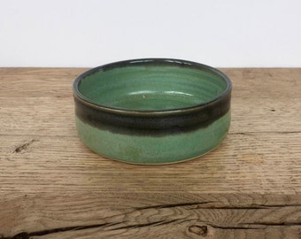 Handmade unique ceramic green and black bowls – Handmade Pottery – Trinket Dish – Small Bowl – Dipping Bowl