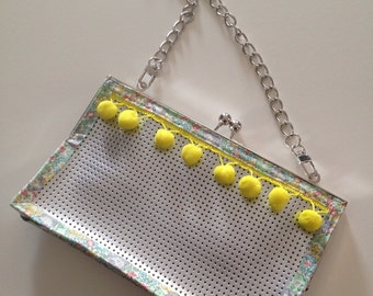 Clutch silver, chic and Bohemian