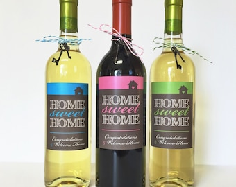INSTANT DOWNLOAD (Digital) Home Sweet Home Wine Label and Sign - Perfect Housewarming or Welcome Home Gift