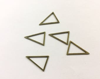spacer 10 triangles 22x16mm antique for jewelry designs