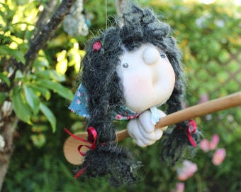 Morena the Kitchenwitch, folklore. Good luck doll for your kitchen & home!