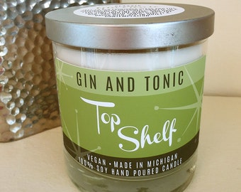 Gin & Tonic Soy Candle - Top Shelf Collection - Low Ball Tumbler