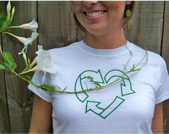 Earth Day Shirt, Green, Recycle Shirt, Womens Tee, Earth Day Gifts, Earth Day T-shirt, Environmental TShirt, Save the Earth, Go Green