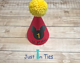 Mickey Mouse Personalized Birthday Party Hat