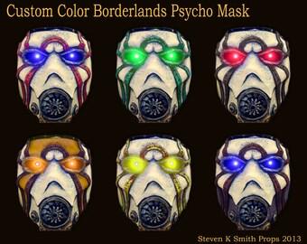 Custom Color - Borderlands Psycho Bandit Mask w/ LEDs