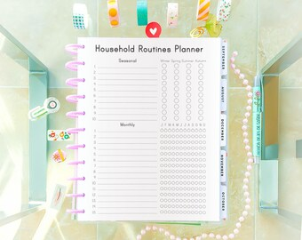Cleaning Checklist, Letter Size, Big Happy Planner Printable Tracker Routine Checklist Cleaning Printable Household Binder Seasonal Cleaning