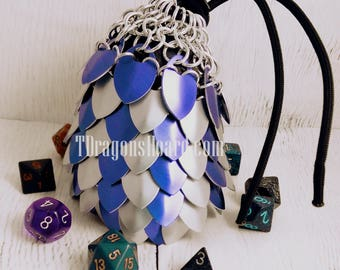 Ready to Ship - Scalemaille Bag - Purple & Frost Scales