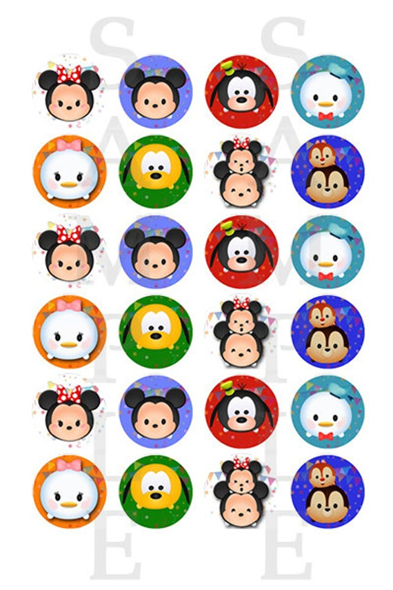 Mickey Mouse Hershey Kiss Sticker Files Tsum Tsum Party Tsum Tsum