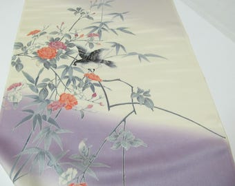 Kimono Fabric/Japanese Silk Kimono Bolt Fabric/Flower And Bird