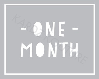 Baby monthly photos / Baby monthly photo prop / Baby photo props / Monthly photos / Pregnancy month photo prints / Monthly Baby Printables