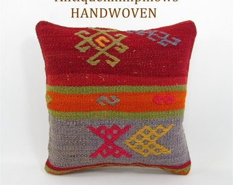 kilim pillow home decor rug pillow vintage throw pillow cover decorative pillow interior design housewarming gift for women gift for mom