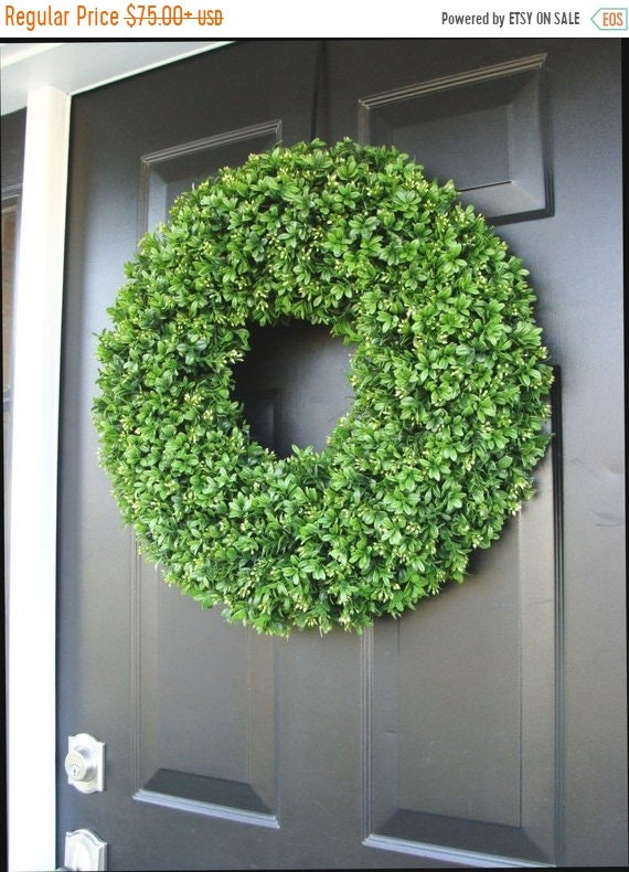 SUMMER WREATH SALE Outdoor Decor, Door Wreaths, Four Seasons, Outdoor Wreath Greenery, Spring Decor, Artificial Boxwood, Wreath Door Hanging