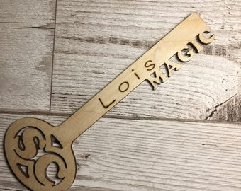 Personalised magic key for either Santa Claus or Father Christmas