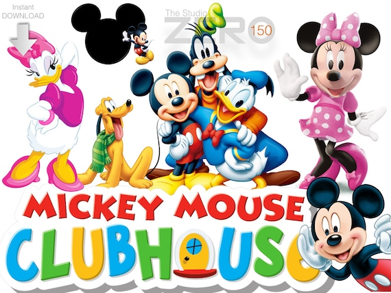 150 disney junior mickey mouse club house clipart 300dpi rh etsy com mickey mouse clubhouse characters clipart mickey mouse clubhouse pete clipart