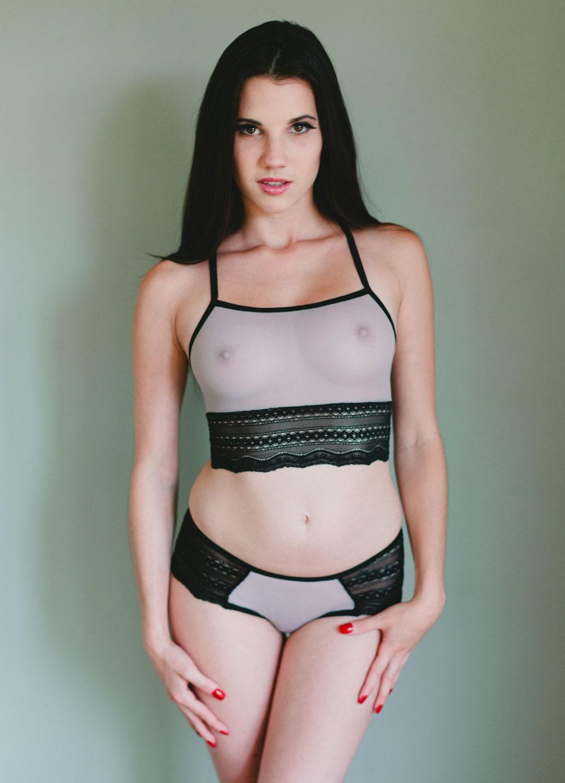 Fishnet see through lingerie