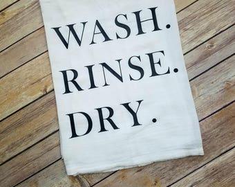 WASH. RINSE. DRY.