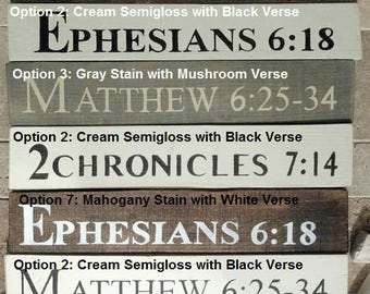 Small Handpainted Inspirational Scripture Pallet Wood Signs