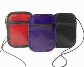 Small Leather Phone / Passport Crossbody Bag