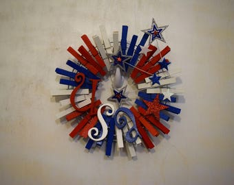USA! USA! Wreath