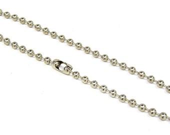 Necklace 6.3mm Ball Bead Chain 15, 16, 18, 20, 22, 24 or 30 inch Skater Biker Goth  Rocker Punk Choker